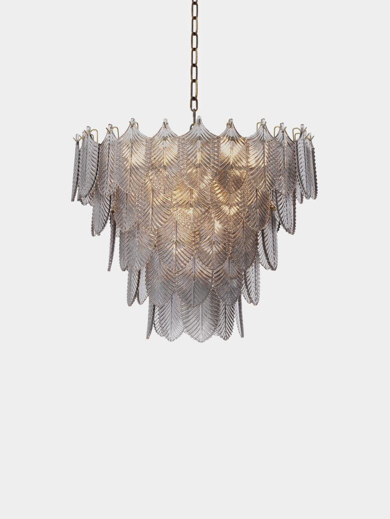 Valence Chandelier - Brushed Brass/Smoke Glass