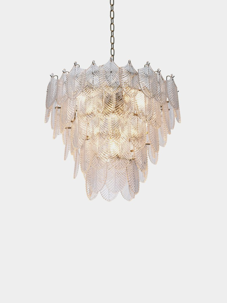Valence Chandelier - Nickel/Clear Glass