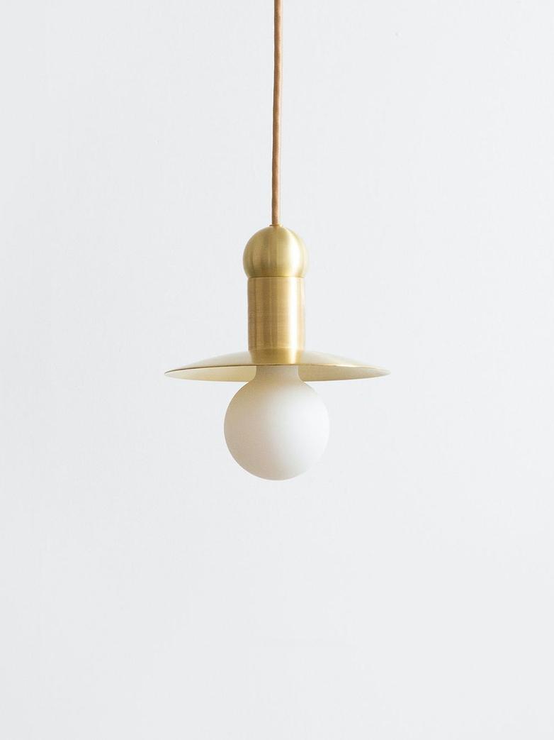 Orbit Cord Pendant - Hewn Brass