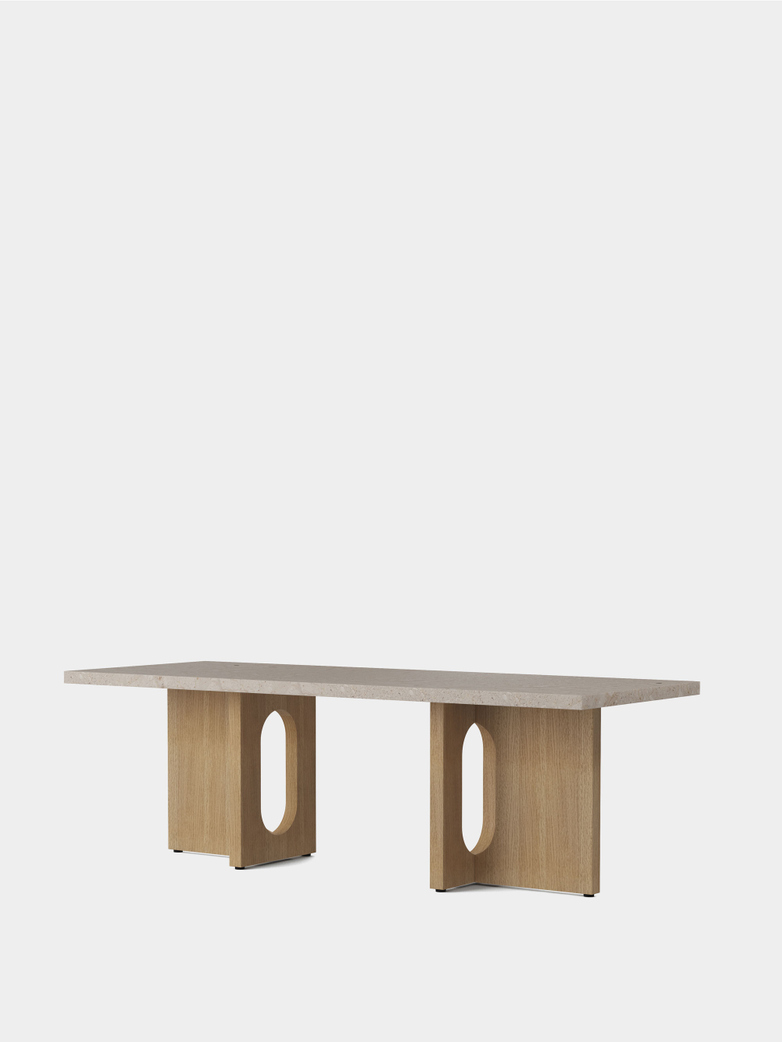 Androgyne Lounge Table - Natural Oak/Kunis Breccia Stone