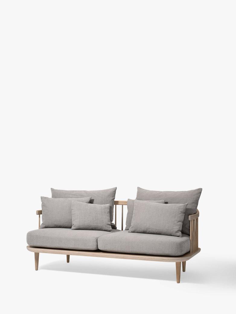 Fly Sofa SC2 - White Oiled Oak – Light Grey