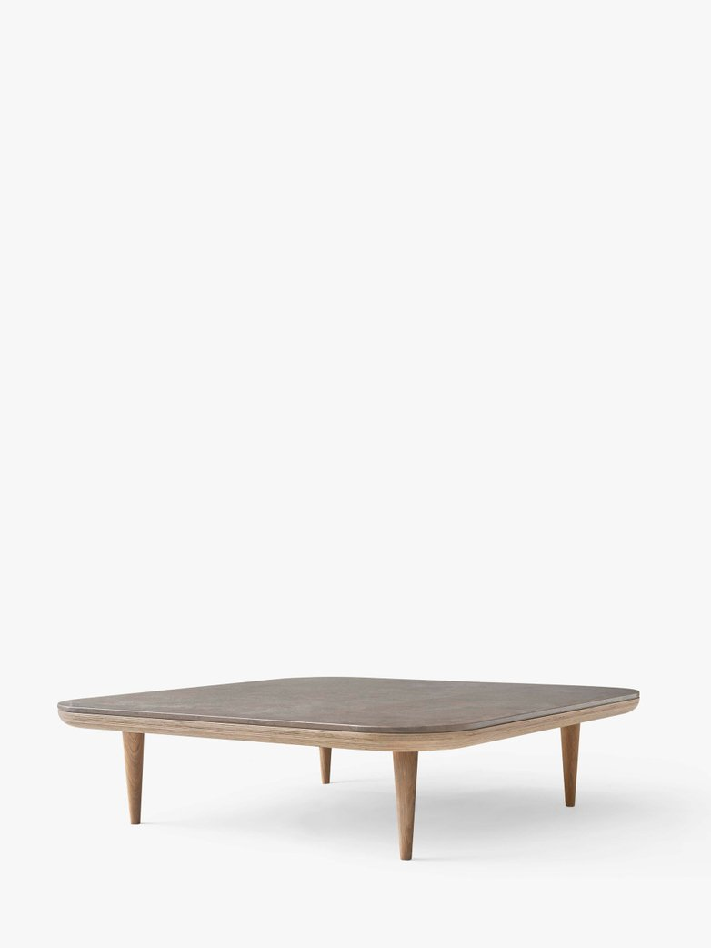Fly SC11 Lounge Table  - White Oiled Oak/Azul Vaverde Marble