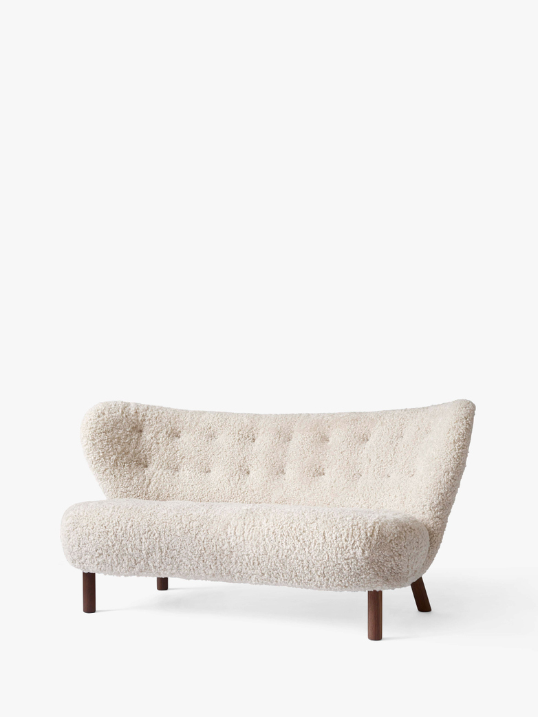 Little Petra Sofa - Moonlight/Walnut