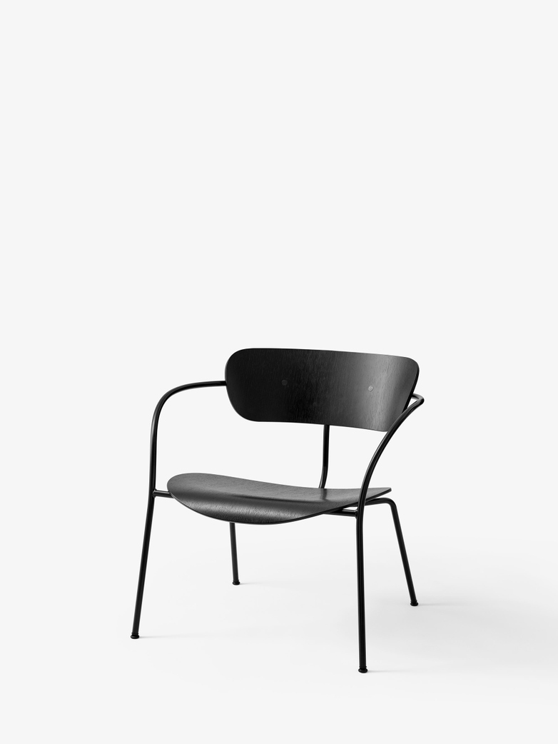 Pavilion AV5 Lounge Chair – Black Lacquered Oak