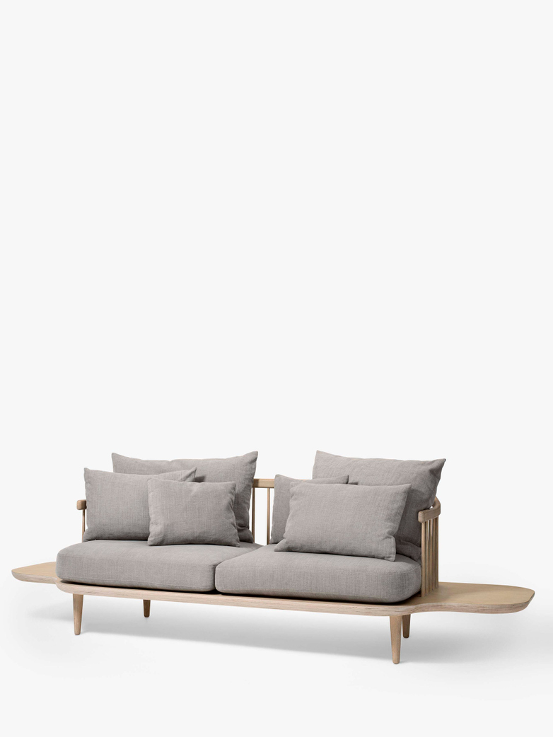 Fly Sofa SC3 - White Oiled Oak – Light Grey