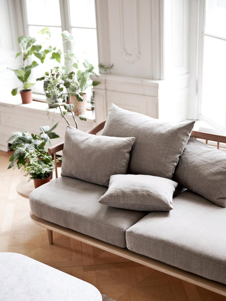 Fly Sofa SC3 - White Oiled Oak – Light Grey