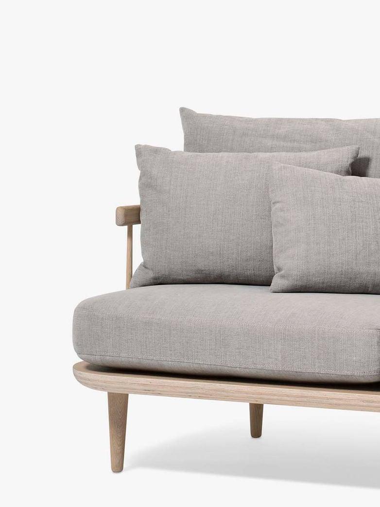 Fly Sofa SC12 - White Oiled Oak – Light Grey