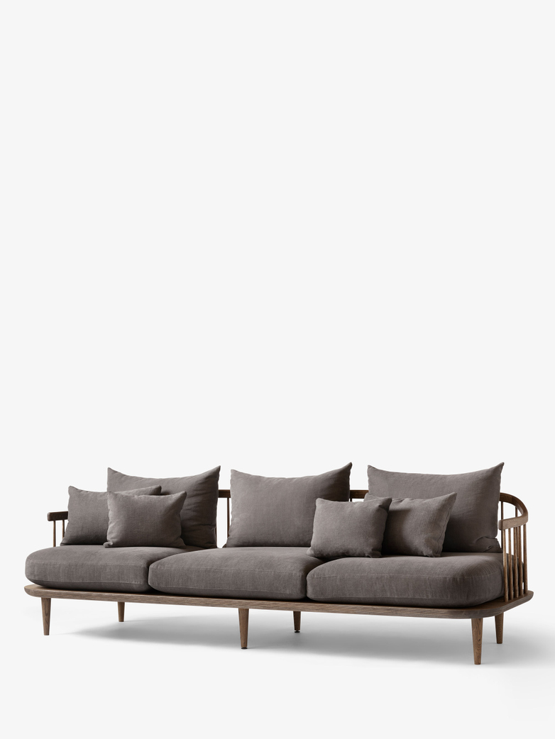 Fly Sofa SC12 - Smoked Oiled Oak – Grey