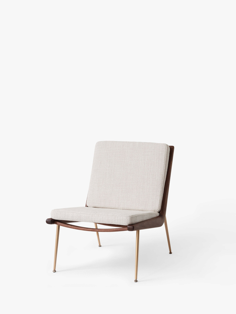 Boomerang HM1 Lounge Chair - Walnut - Loop Cream