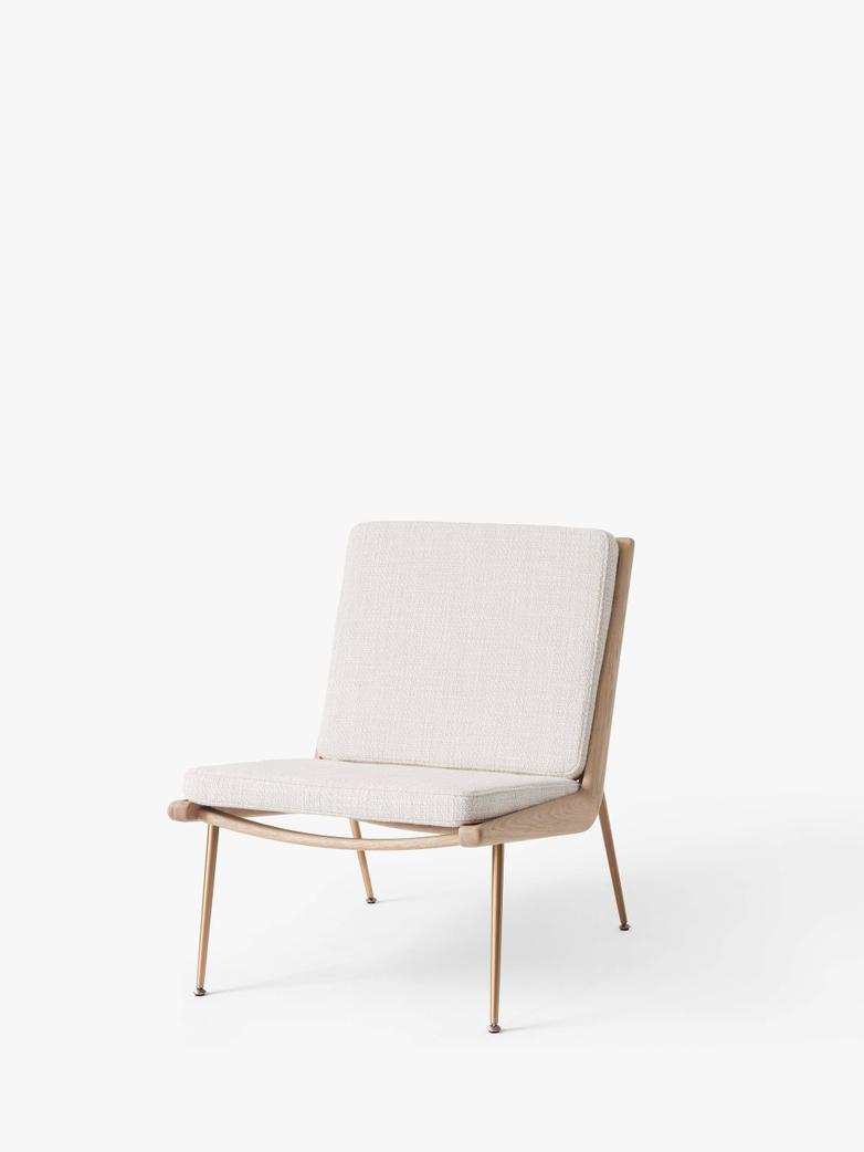 Boomerang HM1 Lounge Chair - Soaped Oak - Loop Cream
