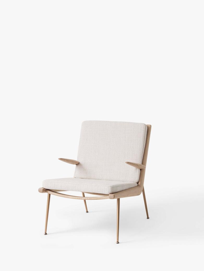 Boomerang HM2 Lounge Chair - Soaped Oak - Loop Cream