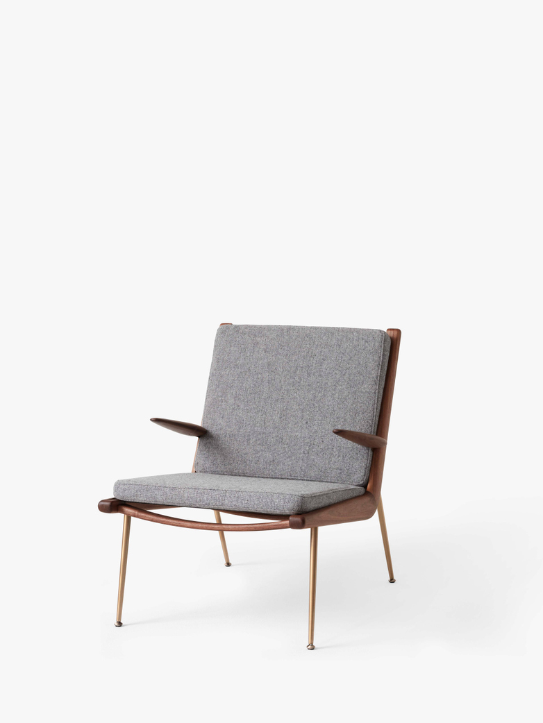 Boomerang HM2 Lounge Chair - Walnut - Hallingdal 130