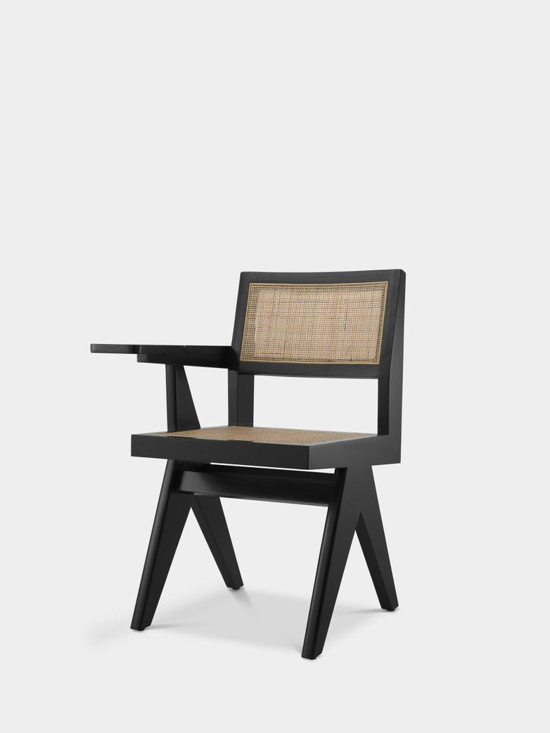 Sander Chair with desk - Black