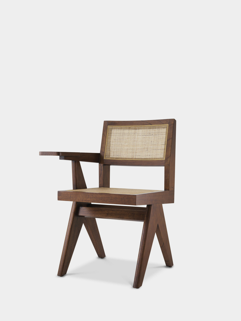 Sander Chair with desk - Brown