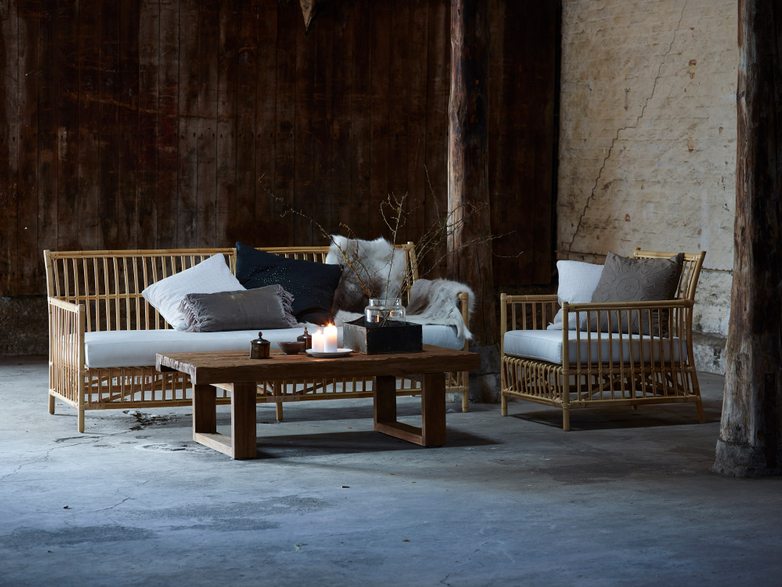Caroline Lounge Chair - Natural - White