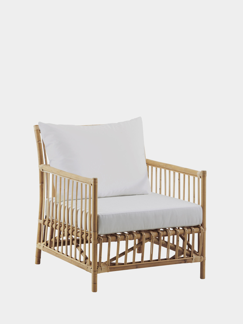 Caroline Lounge Chair - Natural - White