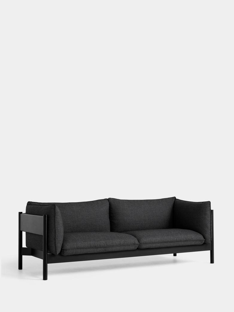 Arbour 3 Seater - Black Beech - Re-Wool 198