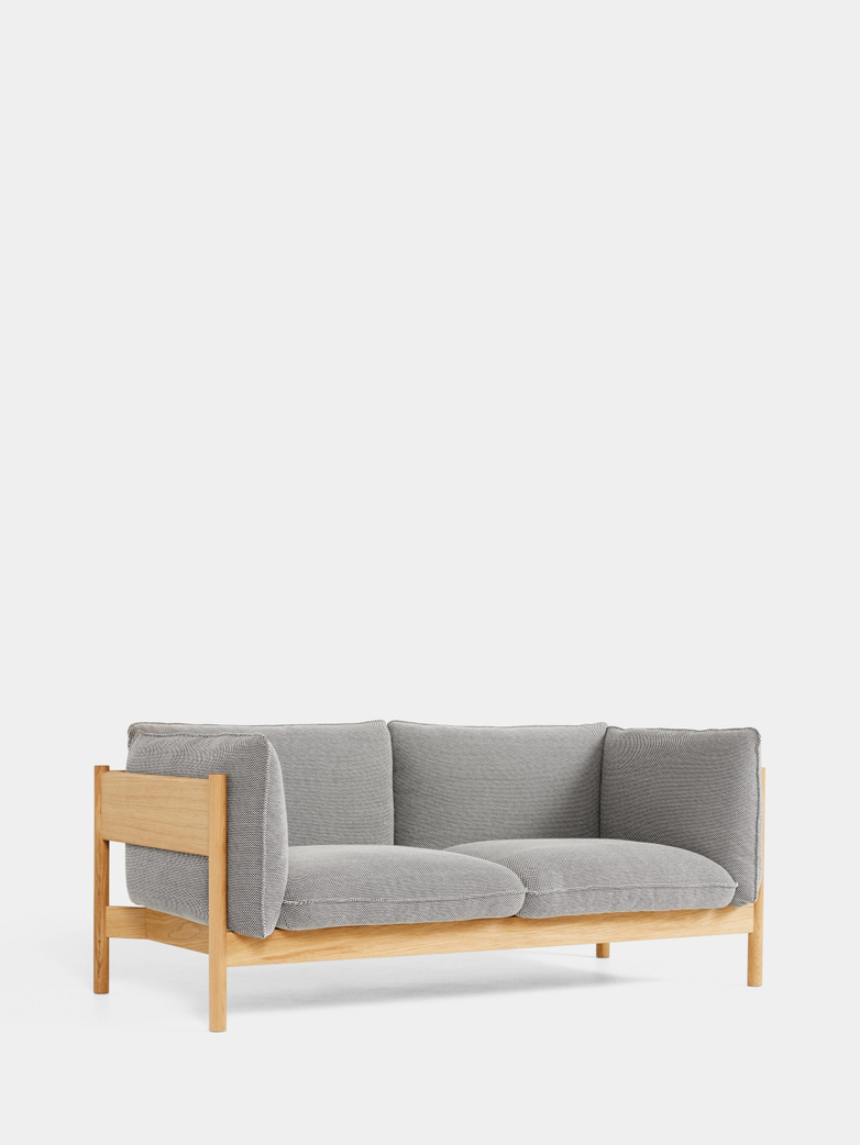 Arbour 2 Seater - Oiled Oak - DOT 168 Bianco Nero