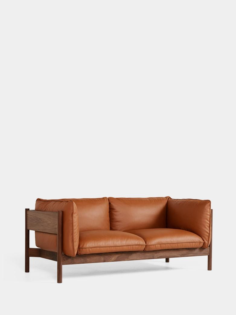 Arbour 2 Seater - Walnut - Cognac Leather
