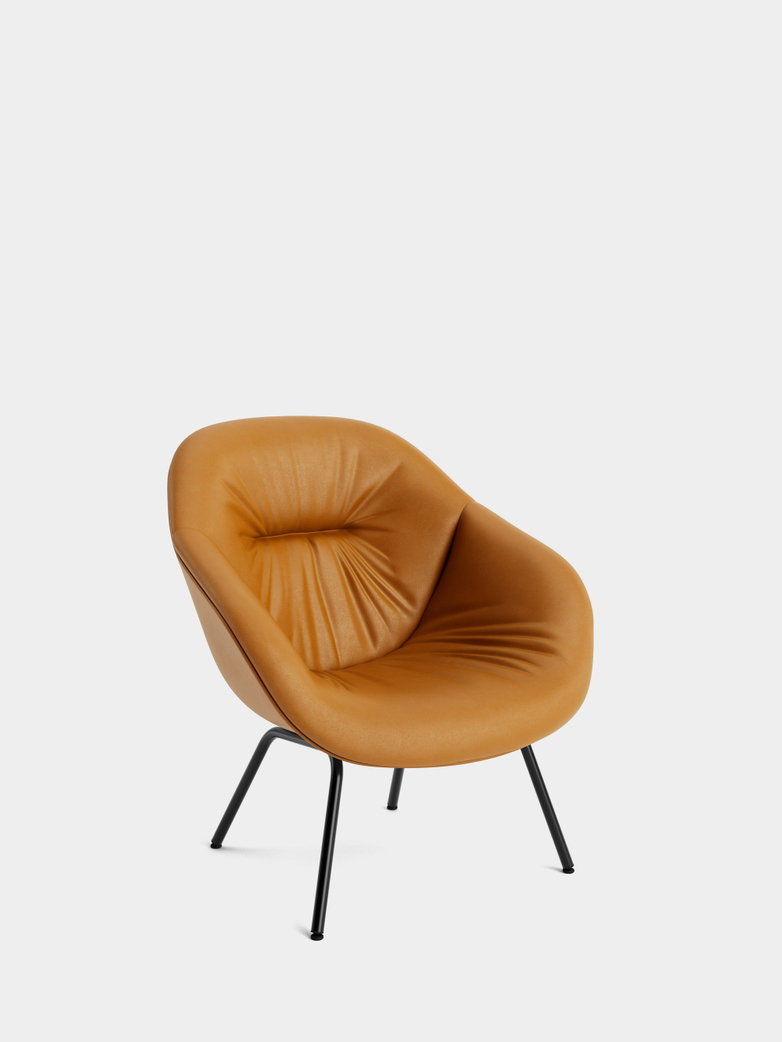 AAL 87 Soft Lounge - Black - Cognac Leather