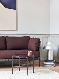 CAN 3-Seater - Black Frame/Natural Canvas - Olavi 14