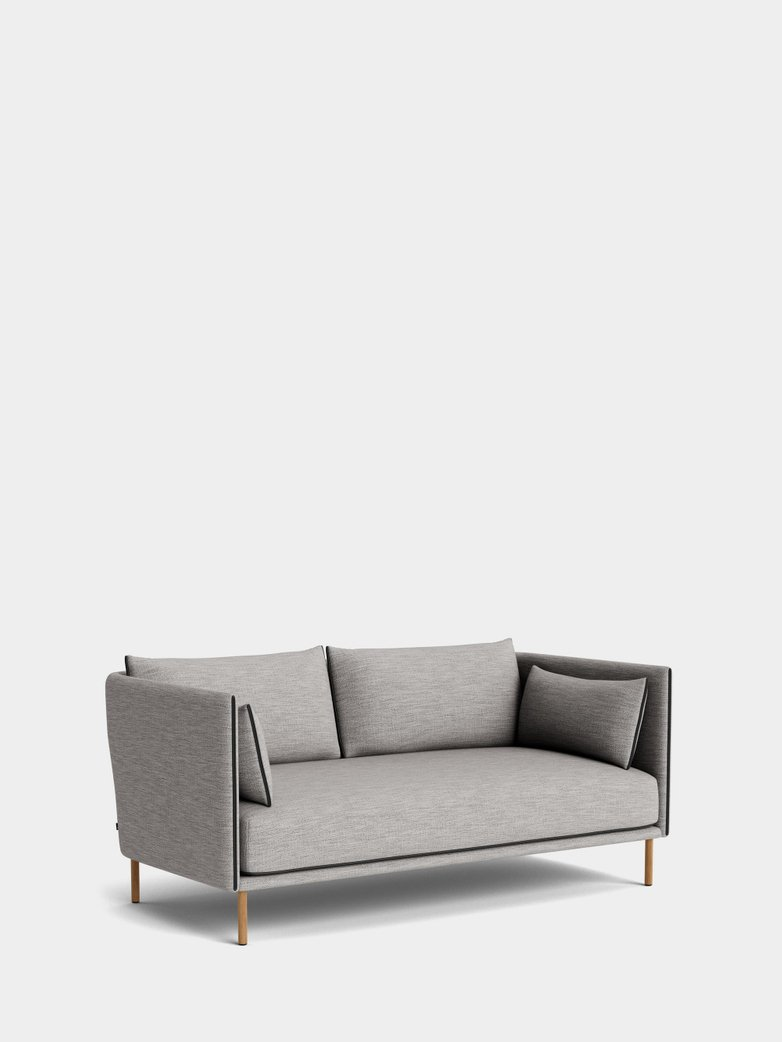 Silhouette Sofa 2-Seater -  Ruskin 33/Black Leather Piping