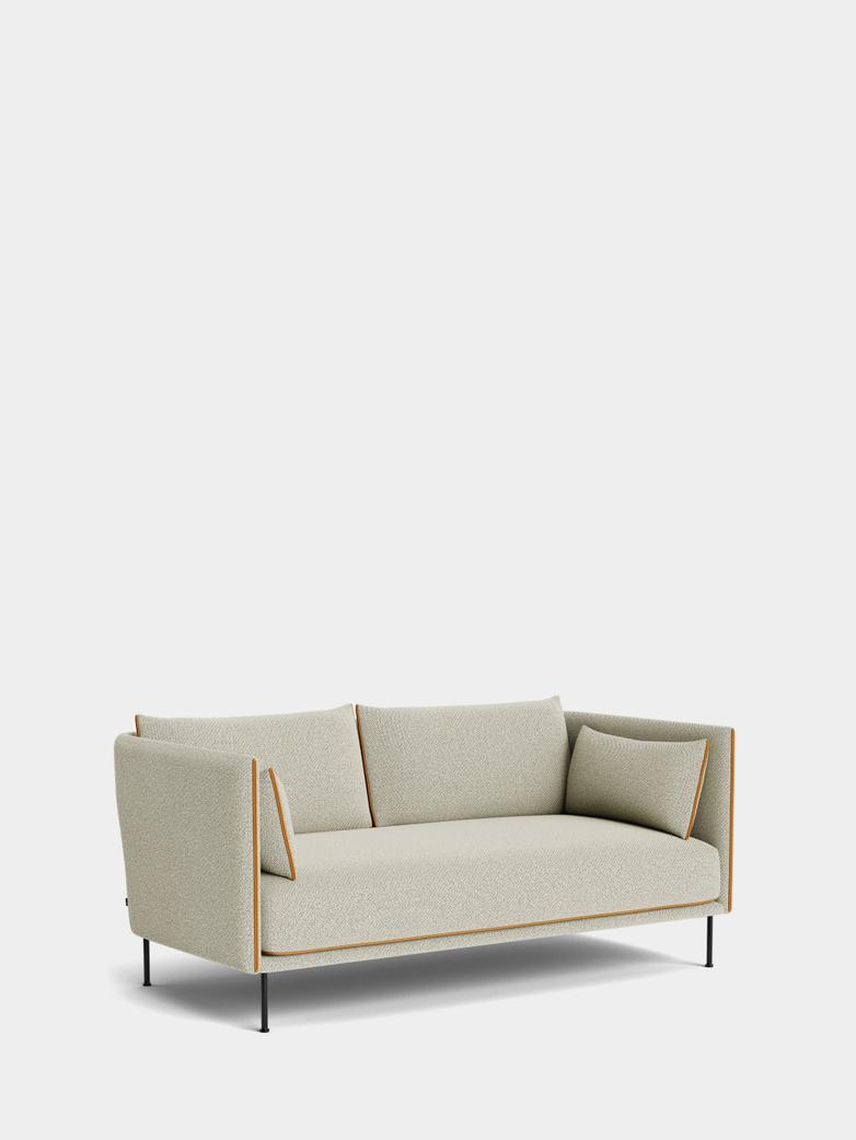 Silhouette Sofa 2-Seater -  Coda 100/Cognac Leather Piping