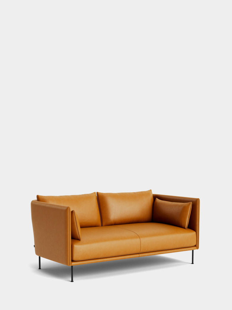 Silhouette Sofa 2-Seater -  Cognac Leather/Cognac Leather Piping