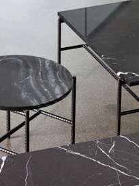 Rebar Round Side Table - Black