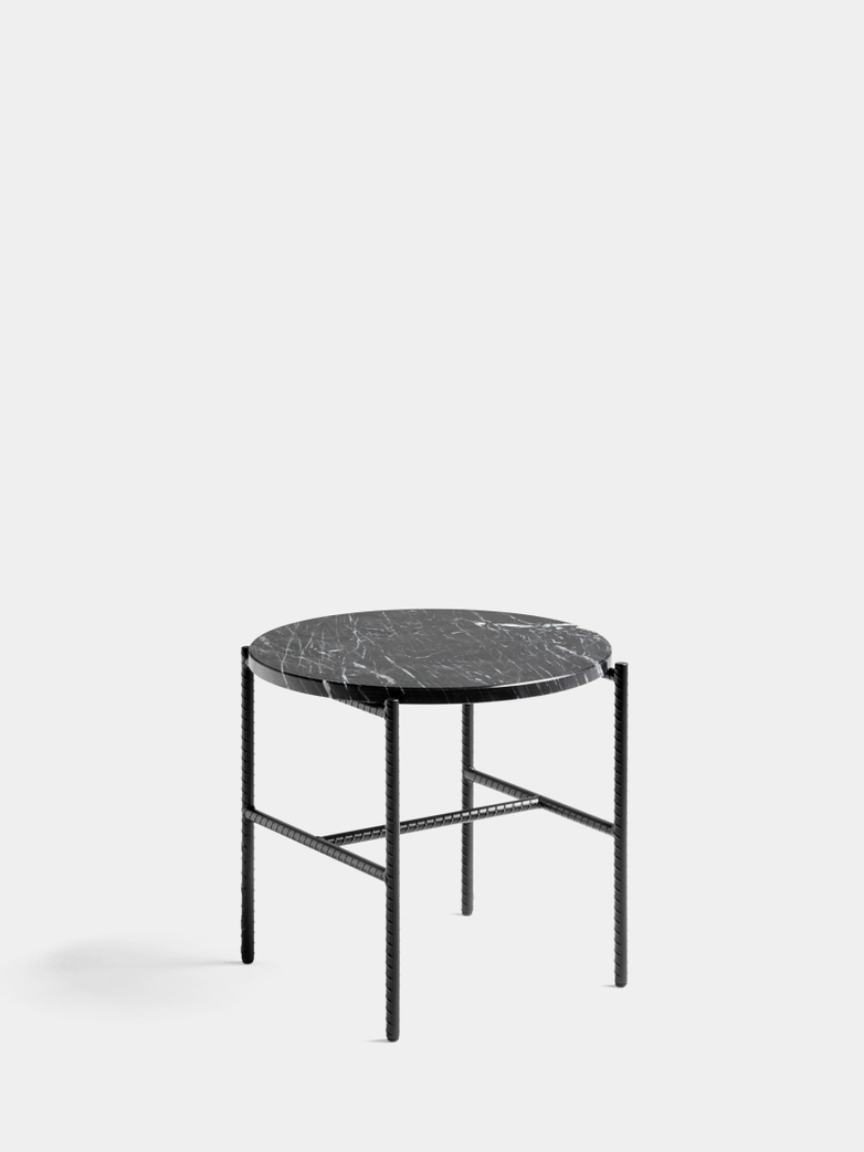 Rebar Round Side Table - Black
