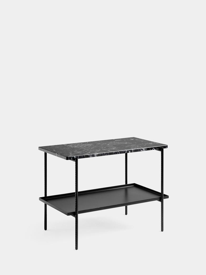 Rebar Rectangular Side Table - Black