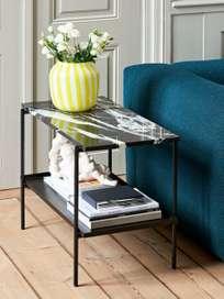 Rebar Rectangular Side Table - Black