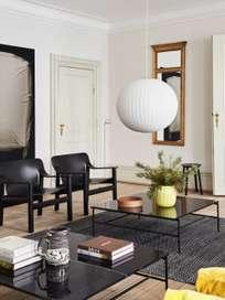 Rebar Square Coffee Table 80 cm - Black
