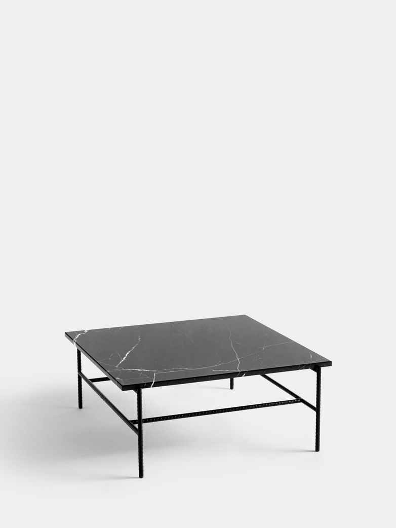 Rebar Square Coffee Table 80 cm - Black