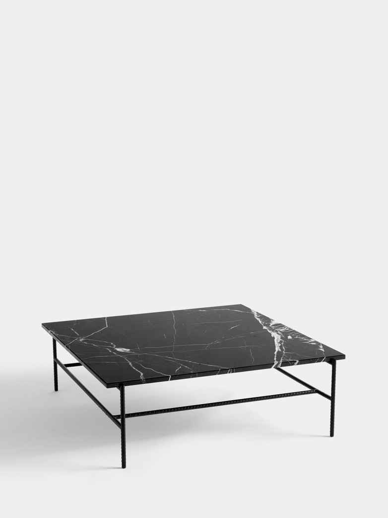 Rebar Square Coffee Table 100 cm - Black