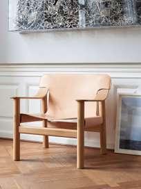 Bernard - Lacquered Oak/Nature Leather