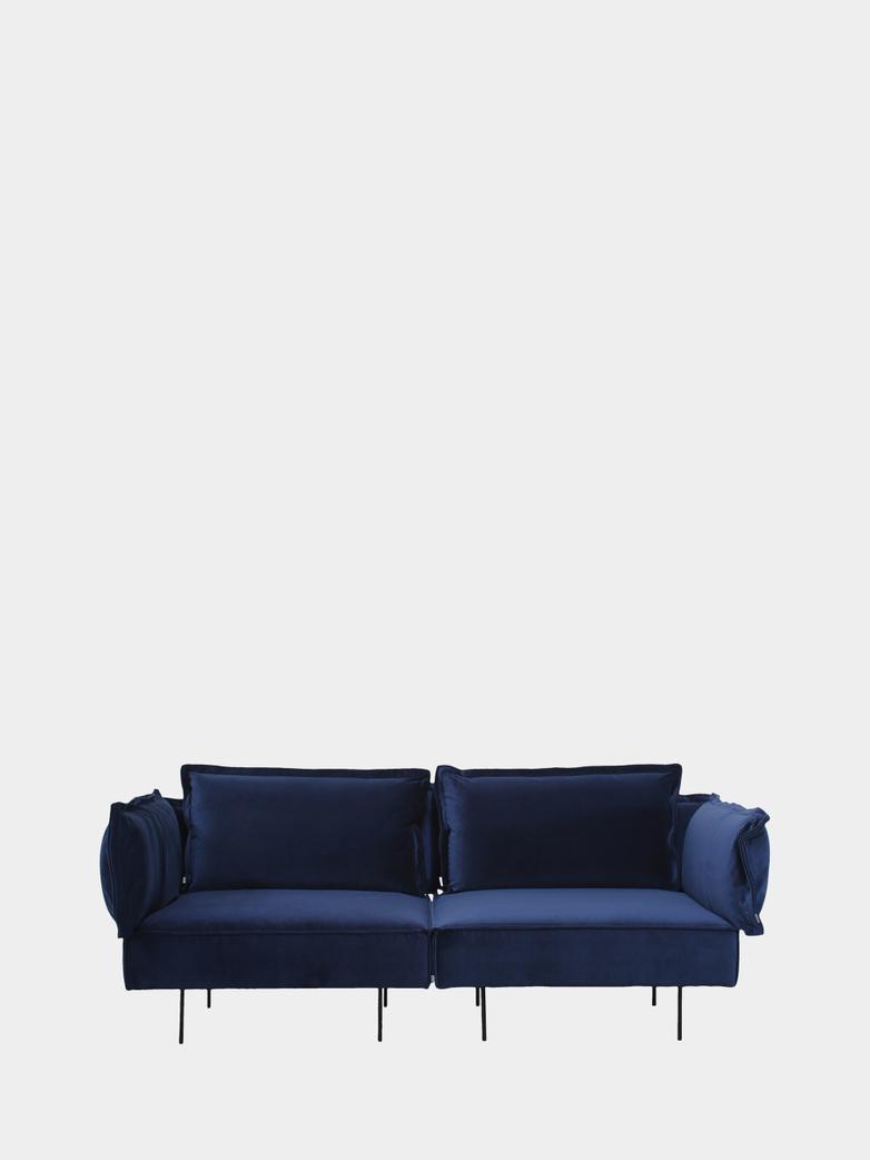Modular Sofa 2-Seater - Velvet Royal Blue