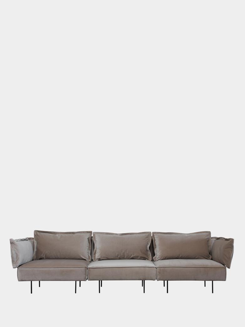 Modular Sofa 3-Seater - Velvet Sand