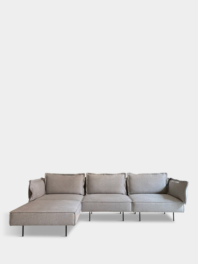 Moular Sofa 3-Seater with Chaise Lounge - Concrete