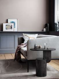 Turn Sofa 2-Seater -  Boucle Off White - Black Frame