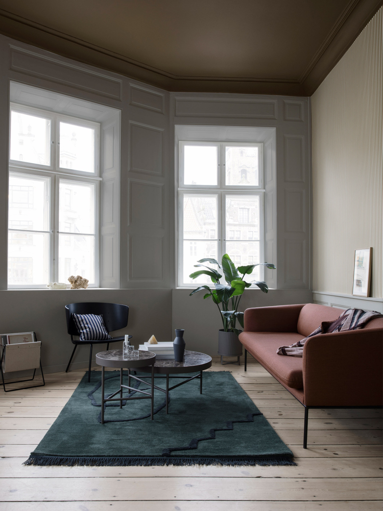 Turn Sofa 3-Seater - Cotton Linen Natural - Black Frame