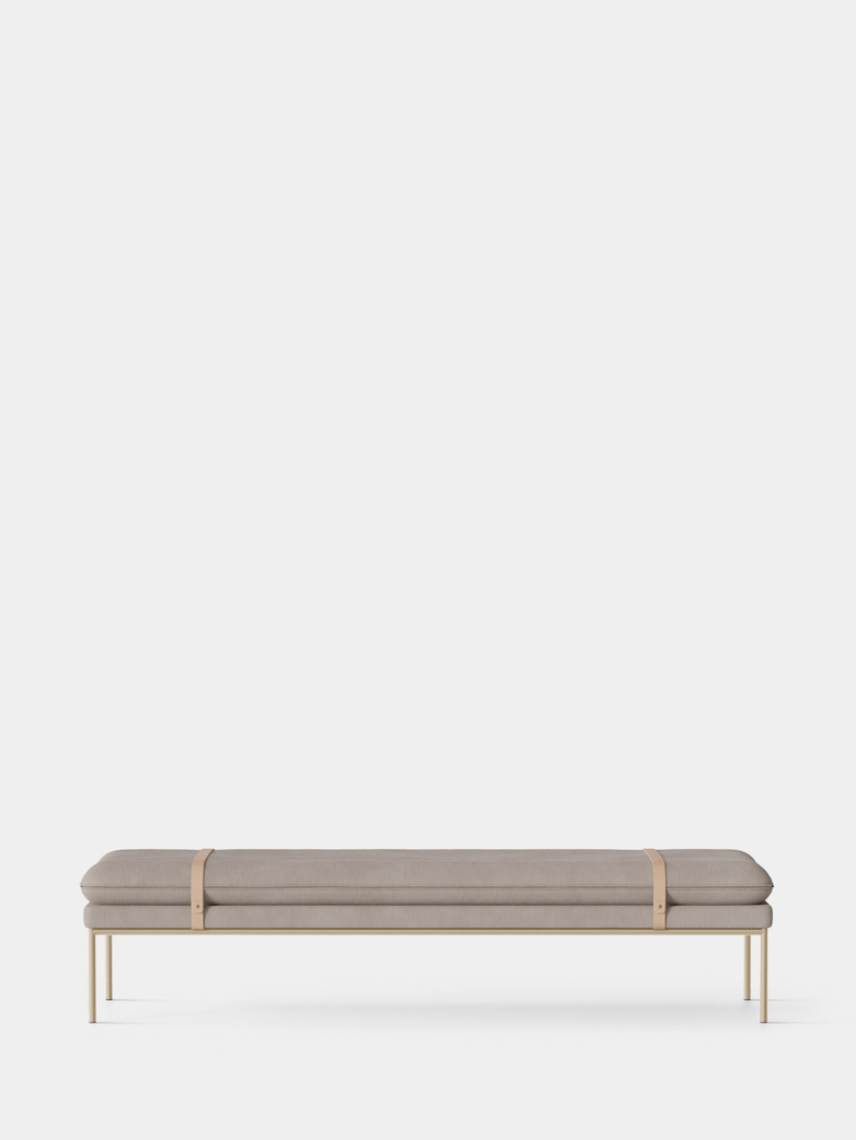 Turn Daybed - Cotton Linen Natural - Cashmere Frame - Natural Straps