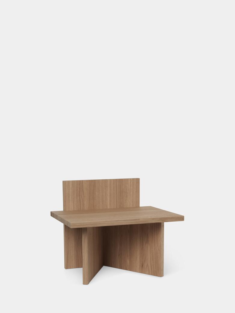 Oblique Stool - Oak