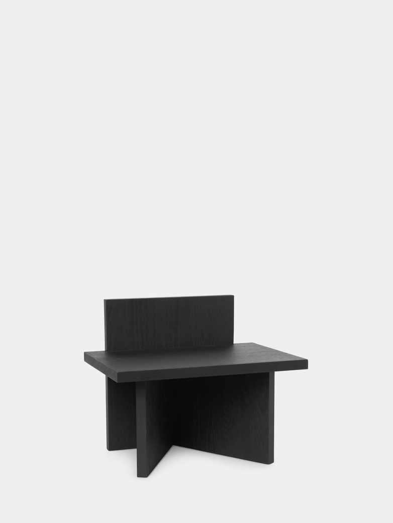Oblique Stool - Black Stained Ash