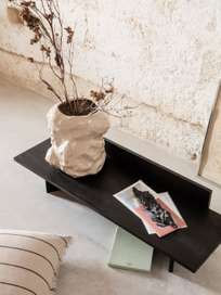 Oblique Bench - Black Stained Ash
