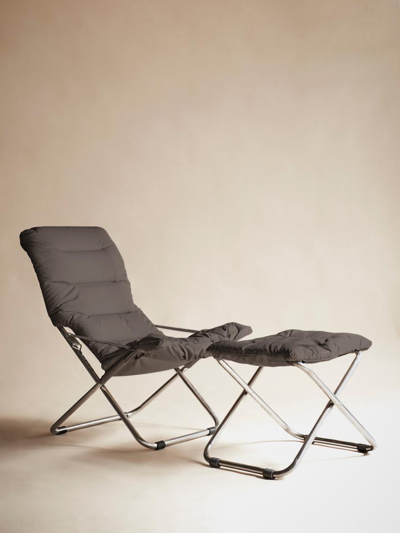 Fiesta Soft Chair & Footstool Brown