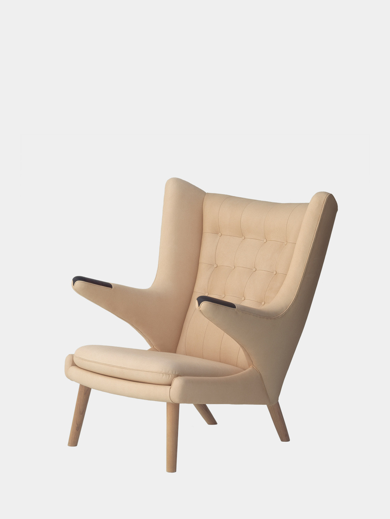PP19 Papa Bear Chair - Soaptreated Ash - Vegetal Leather