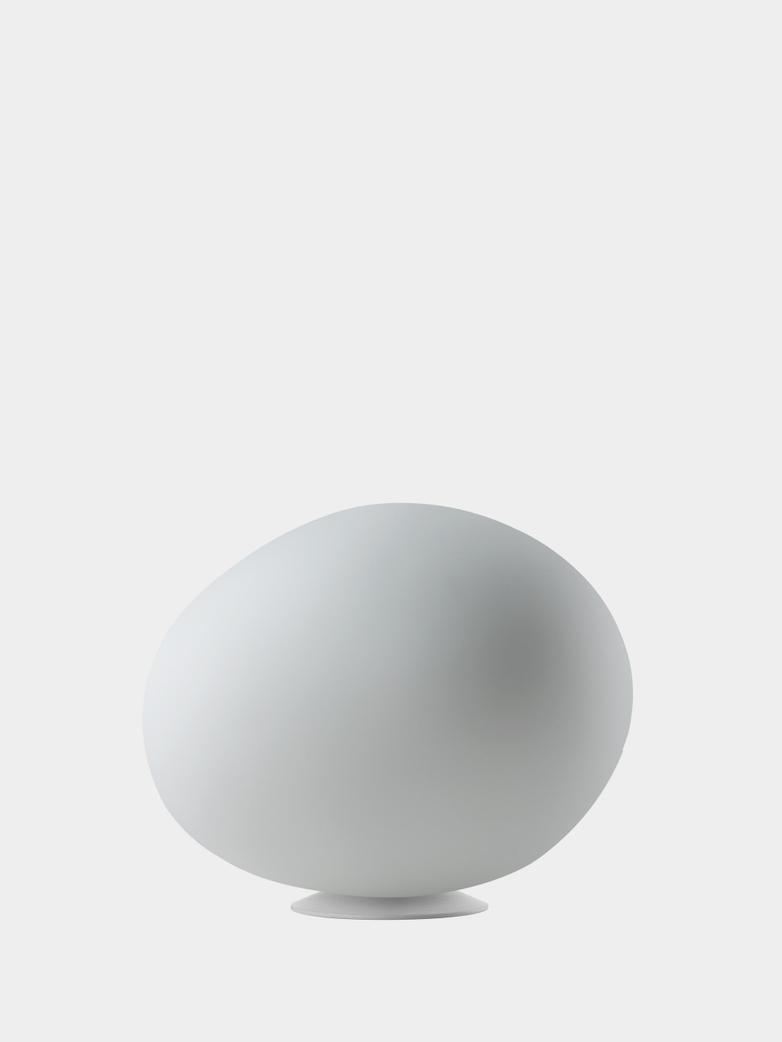 Gregg Media Table Lamp with Dimmer - White