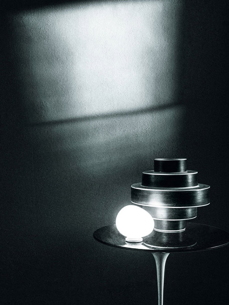 Gregg Piccola Table Lamp with Dimmer - White
