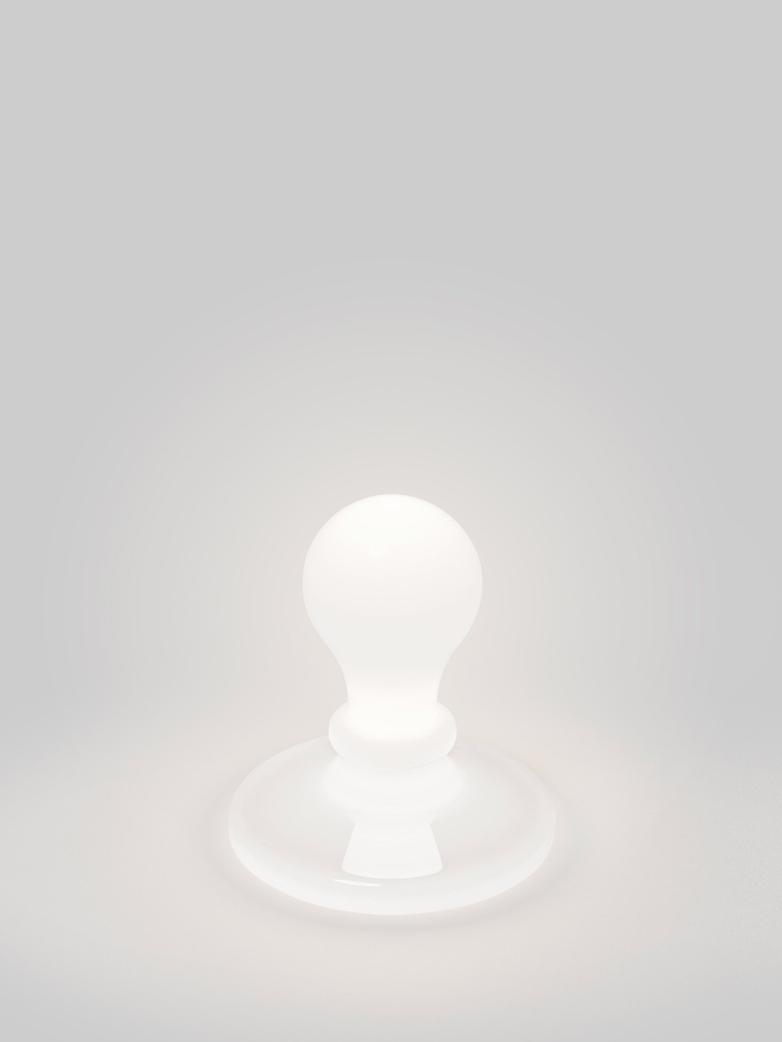 Light Bulb Table Lamp - White